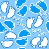 Baby boy footsteps — Stock Vector