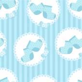 Baby boy socks seamless pattern — Stock Vector
