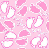 Baby footsteps seamless pattern — Stock Vector