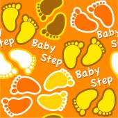 Colorful baby footsteps — Stock Vector