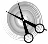 Scissors haircut icon — Stock Vector