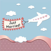 Just married card — Stock Vector