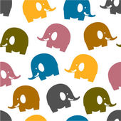 Colorful elephant seamless pattern — Stock Vector