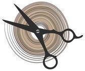 Hair scissors icon — Stock Vector