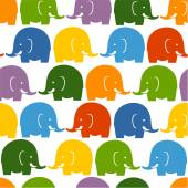 Colorful elephants seamless pattern — Stock Vector