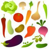 Set of fresh vegetables — Stock Vector