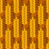 Gold yellow double wheat pattern — Stock Vector