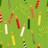 Birthday candles seamless pattern — Stock Vector