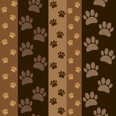Dark brown paws pattern — Stock Vector