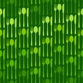 Cutlery dark green pattern — Stock Vector