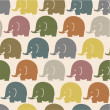 Elephant seamless pattern — Stock Vector #64606323