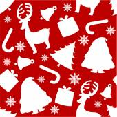 Xmas elements silhouettes — Stock Vector