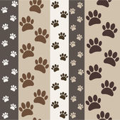 Brown paws seamless pattern — Stock Vector
