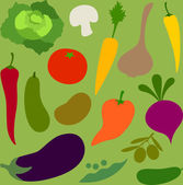 Vegetables group — Stock Vector