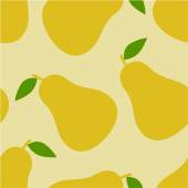 Pear seamless pattern — Stock Vector
