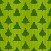 Xmas tree on striped green seamless pattern — Stock Vector