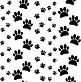 Paws seamless pattern — Stock Vector