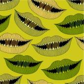 Halloween bloody mouth seamless pattern — 图库矢量图片