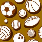 White sport balls pattern — Stock Vector