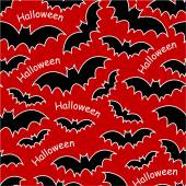 Halloween bats seamless pattern — Stock Vector