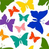 Colorful butterflies pattern — Stock Vector