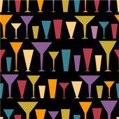 Colorful silhouette glasses — Stock Vector