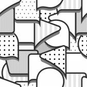 Speech bubbles grey and white seamless pattern — Vector de stock