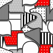 Speech bubbles grey red white seamless pattern — Vector de stock
