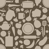 Brown cook seamless pattern — Vettoriale Stock