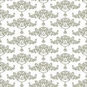 Monochrome floral ornament — Stock Vector