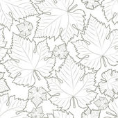 Wine leaf white seamless pattern — Stock Vector