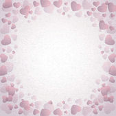 Grunge seamless texture with hearts. — Stock Photo