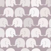 Baby elephants purple seamless pattern — Stock Vector