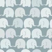 Baby elephants blue seamless pattern — Stock Vector