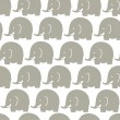 Elephants grey pattern — Stock Vector #71680811