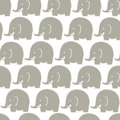 Elephants grey pattern — Vector de stock