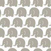 Elephants grey pattern — Stock Vector