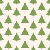 Xmas tree on striped seamless pattern — Stock Vector