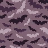 Purple bats seamless pattern — Stock Vector