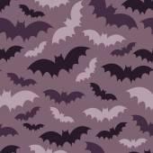 Padrão sem emenda de morcegos roxo — Vetor de Stock