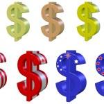 Set Dollars — Stock Photo #58628363