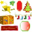 Set Merry Christmas objects — Stock Vector #58628123