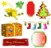 Set Merry Christmas objects — Stock Vector