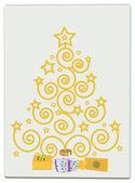 Christmas gold tree — Stock Photo