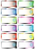 Définir les couleurs de Stickers de Noël — Vecteur