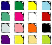 Set colors stickers — Stock Vector