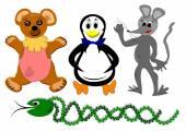 Toys animals — Stock Photo