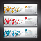Dollar Currency Banners — Stock Vector