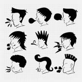 Head Cartoon in Any style — Stock Vector