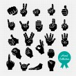 Hands with different gestures — Stock Vector #62433517